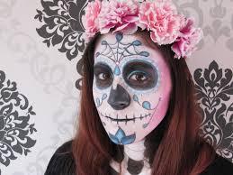 romantic sugar skull makeup tutorial the day of the dead dia de los muertos