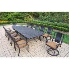 extendable outdoor dining sets. extendable cast aluminum 13-piece rectangular patio dining set outdoor sets s