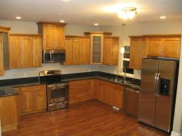 Space Saving Kitchen Gray Laminated Wooden Kitchen Cabinet Space Saving Kitchen Ideas