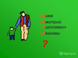 Презентация на тему Урок экскурсия в классе Тема Большая  2 Дима Дмитрий Николаевич Ивановы