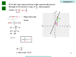 standard 5 write the slope intercept form of the equation that p through 4
