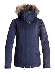 blue womens roxy jackets grove 10k snow jacket peacoat