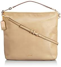 Coach Madison Leather Hobo Light Gold Tan