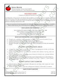 Sample Resume For Teachers Job Teachers Aide Or Assistant Resume Sample Or Cv Example