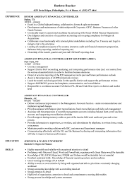 cv financial controller assistant financial controller resume samples velvet jobs