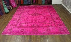 8 10 hot pink overdyed rug turkish ushak wool 2700 to dye for dye with regard plan 6