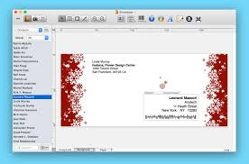 Christmas Card Mailing List Software Labels Addresses Label Software For Mac