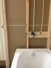 new bathtub and moen valve installation 1