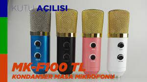 MK-F100TL USB Kondenser Mikrofon (Ses Testi) - AliExpress Siparişlerim #3 -  YouTube