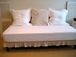 Twin Sized Upholstered (slip-covered) daybed project completed!