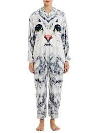Kigurumi Onesie Size Chart Kigurumi Onesie Pajamas 3d Cats Light Gray Flannel Easy Toilet Jumpsuit Kigurumi Costumes