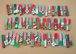 old reused clothespins christmas ornaments names tree decoration