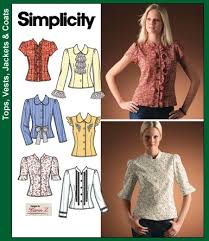 Simplicity Blouse Patterns Adorable Simplicity 488 Blouse 48848 Sleeves Tab Collar