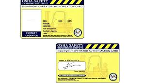 Free Forklift Certificate Template Certification For Forklift License Balboastationplan Org