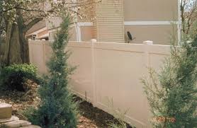 Image Images Tongue Groove Tan Vinyl Privacy Fence North Star Fence Tongue Groove Tan Vinyl Privacy Fence Residential Industrial