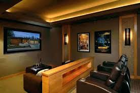 Home theater step lighting Floor Sconce Golias Media Room Wall Sconces Home Theater Contemporary With Step Lighting