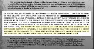 Lease Violations With Crime Free Rules Tenants Evicted After Overdose Calls