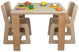 kids table and four chairs wooden play for toddlers plastic activity childrens