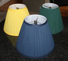 outstanding pleated lamp shades three yellow green and blue color with pre made templates