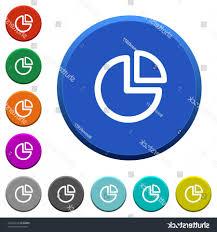 Pie Chart Round Color Beveled Buttons Handandbeak