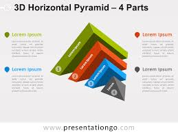 3d Flow Chart Powerpoint 3d Horizontal Pyramid For Powerpoint Presentationgo Com