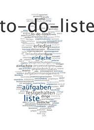 Another Word For To Do List Best Word Cloud Of To Do List In German Language Stock Photo Picture And
