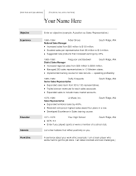 Free Sample Professional Resume Good Resume Template Free