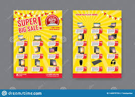 Sample Of Flyer Flyer Template For Sale Promotion Stock Vector