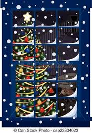 Christmas Tree In Window Stock Photo Image Of Decoration  48526740Christmas Tree In Window
