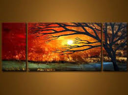 golden sunset modern canvas art wall decor landscape oil painting wall art with stretched on sunset wall art canvas with golden sunset modern canvas art wall decor landscape oil painting