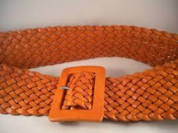 Antonio Melani Brown Rustic Cognac Leather Belt