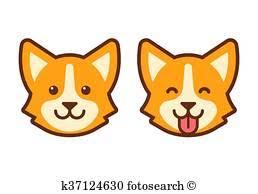 dog face clipart. Interesting Dog Corgi Dog Face Icon Inside Dog Face Clipart I