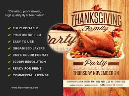 thanksgiving party flyer thanksgiving family party flyer template flyerheroes