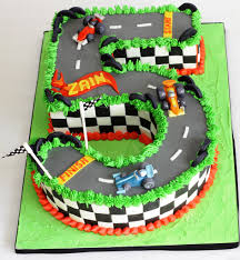 Cake Walk Cake Designs Hotwheels Styled Race Car 5th Birthday Cake Hot Wheels