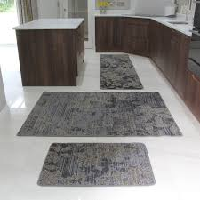 Kitchen Floor Mats Uk Brown Rubber Backed Modern Kitchen Rug Flat Weave Easy Clean