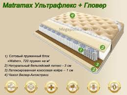 <b>Матрас</b> Матрамакс <b>Ультрафлекс</b> + <b>Гловер</b> купить в Москве ...
