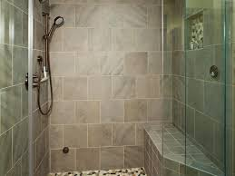 Contemporary Shower Tiled Shower With Colorful River Rock Floor This Contemporary