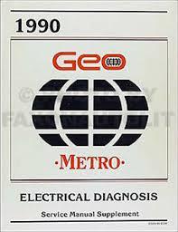 geo metro electrical diagnosis wiring diagram service manual image is loading 1990 geo metro electrical diagnosis wiring diagram service