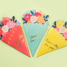 3pcs DIY Flower Greeting Card Wedding Gift Greetings Christmas Card Kids  Party Gift Birthday Cards Event & Party Supplies-in Cards & Invitations  from Home ...