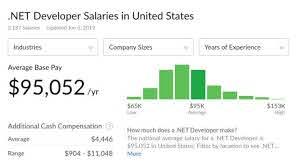 dot net developer programmer salary