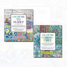 coloring book collection 2 books set color me to sleep color me stress free by lacy mucklow paperback new