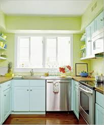 Painted Kitchen Floor Kitchens Soft Pastel Blue And Green Painted Wall Small Kitchen
