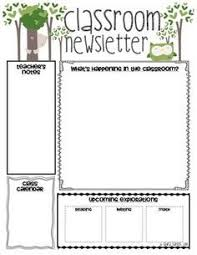 Free Teacher Newsletter Templates Classroom Newsletter Templates This Would Be A Great Printout For
