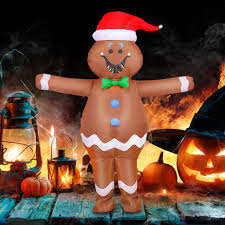 <b>Halloween Inflatable</b> Suit Adult <b>Gingerbread Man</b> Green Alien Fancy ...