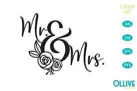Find & download free graphic resources for svg. Wedding Floral Mr Mrs Svg 802301 Cut Files Design Bundles