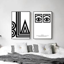 black white eye letters abstract canvas posters minimalist canvas within black and white abstract wall art