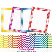 Primary Letter Writing Paper Primary Colors Chevron Stationery Writing Paper Printable
