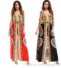new african dresses for women fashion split printing boho style long sleeve l dress bohemian bodycon dashiki dress ball gown long prom dresses from