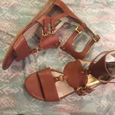 artemis shoes. michael michael kors shoes - brown artemis leather sandals