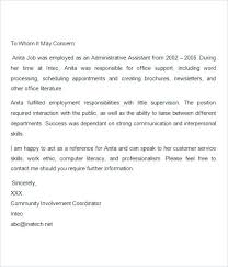 Sample Letter Of Recommendation For A Teacher Position Sample Letter Of Recommendation For Teaching Position Reading Com